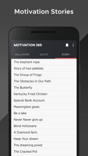 Motivation 365 app for Android, download programs for phones and tablets for free.