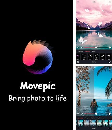 Besides Fonteee: Text on photo Android program you can download Movepic - Photo motion & cinemagraph for Android phone or tablet for free.