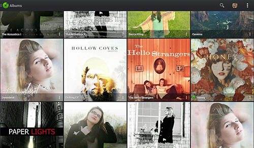 Les captures d'écran du programme Music player pro pour le portable ou la tablette Android.