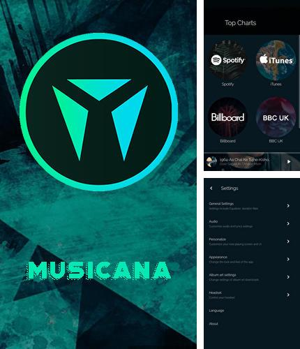 Besides Timbre: Cut, join, convert mp3 video Android program you can download Musicana music player for Android phone or tablet for free.