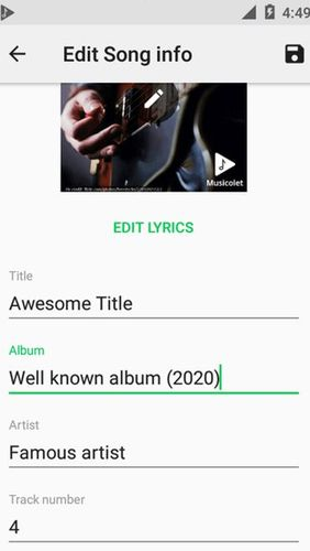 Musicolet: Music player app for Android, download programs for phones and tablets for free.