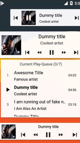 Les captures d'écran du programme Musicolet: Music player pour le portable ou la tablette Android.