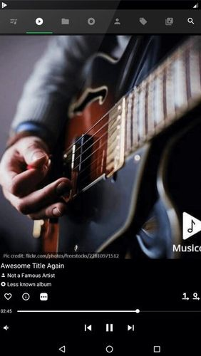 Capturas de tela do programa Musicolet: Music player em celular ou tablete Android.