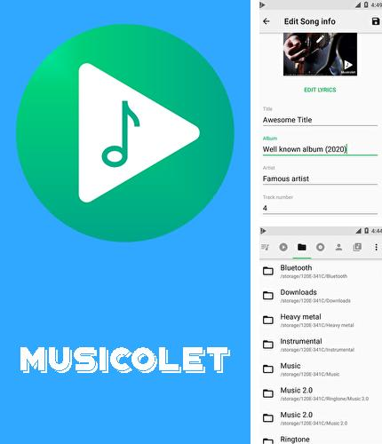 Besides APK installer Android program you can download Musicolet: Music player for Android phone or tablet for free.