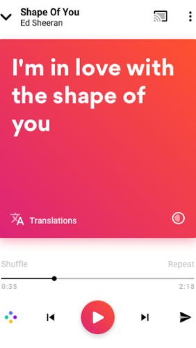 Download Musixmatch - Lyrics for your music for Android for free. Apps for phones and tablets.