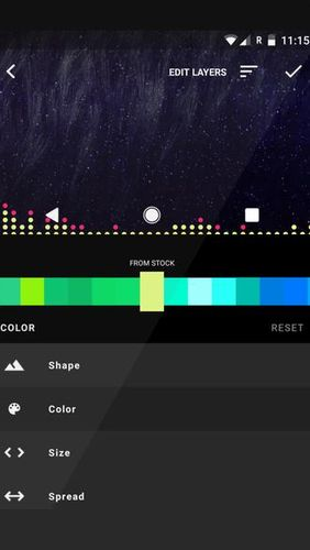 Screenshots des Programms Muviz – Navbar music visualizer für Android-Smartphones oder Tablets.