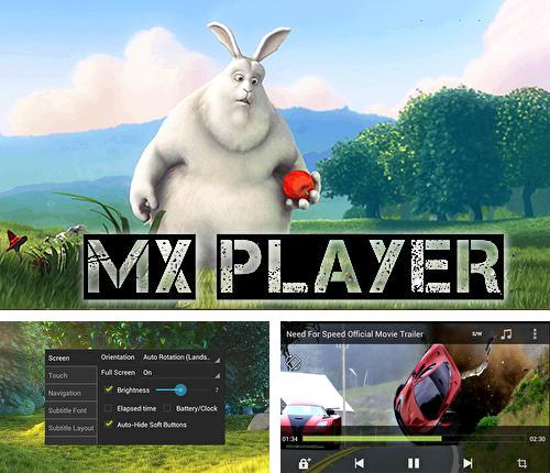 Besides Pure writer - Never lose content editor Android program you can download MX player for Android phone or tablet for free.