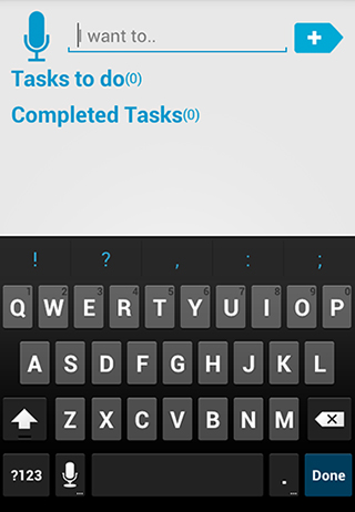 Screenshots of My tasks program for Android phone or tablet.