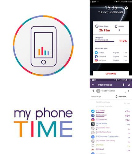 Besides Nano launcher Android program you can download My phone time - App usage tracking for Android phone or tablet for free.