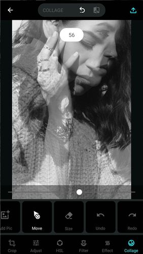 Screenshots des Programms MY photo editor: Filter & cutout collage für Android-Smartphones oder Tablets.