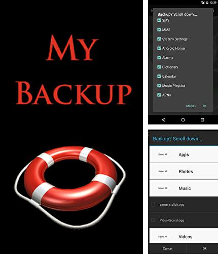 Besides Mirror emoji keyboard Android program you can download My backup for Android phone or tablet for free.