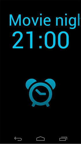 Capturas de tela do programa My clock 2 em celular ou tablete Android.