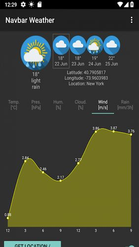 Screenshots of Navbar weather - Local forecast on navigation bar program for Android phone or tablet.