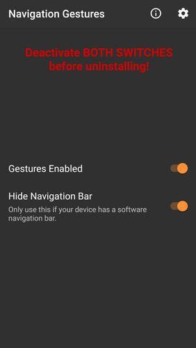 Capturas de tela do programa Navigation gestures em celular ou tablete Android.
