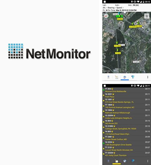 Besides VLC media player Android program you can download Netmonitor for Android phone or tablet for free.