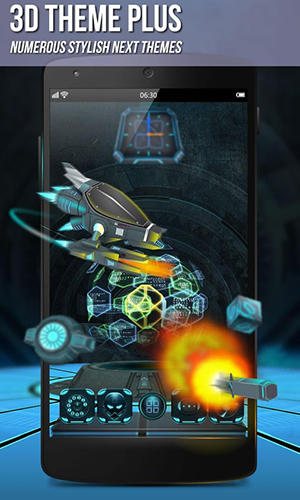 Screenshots of Next launcher 3D program for Android phone or tablet.