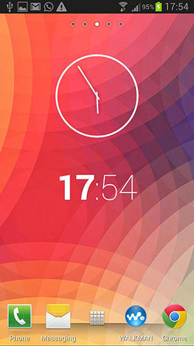 Nexus clock widget