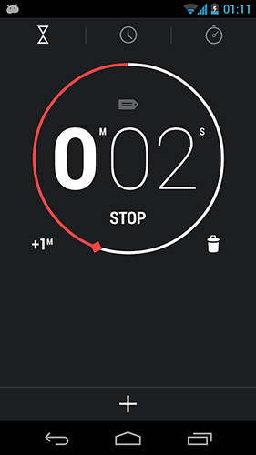 Screenshots of Digital Clock Widget program for Android phone or tablet.