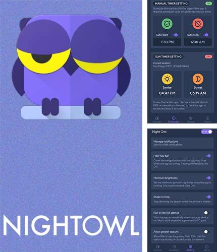 Descargar gratis Night owl - Screen dimmer & night mode para Android. Apps para teléfonos y tabletas.