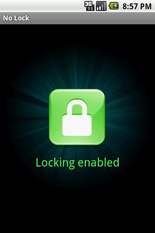 Les captures d'écran du programme No lock pour le portable ou la tablette Android.