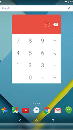 Capturas de tela do programa Numix calculator em celular ou tablete Android.