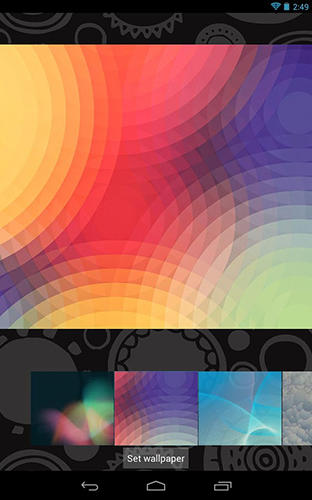 Screenshots of ROM wallpapers program for Android phone or tablet.
