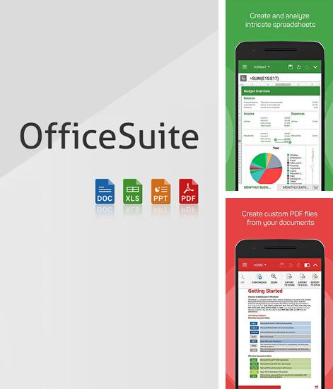 Besides Cold Launcher Android program you can download Office Suite for Android phone or tablet for free.