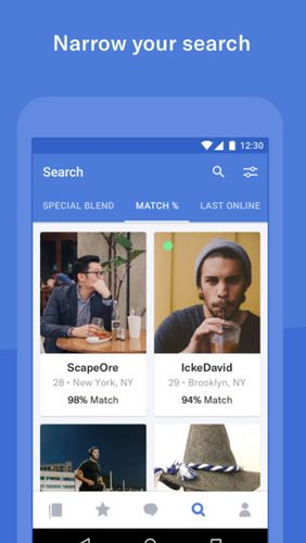 OkCupid dating app for Android, download programs for phones and tablets for free.