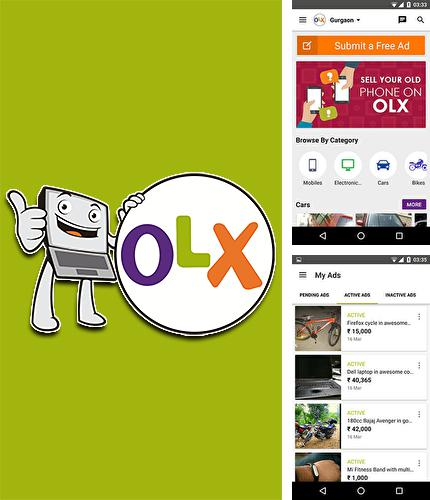 Besides Cool reader Android program you can download OLX.ua for Android phone or tablet for free.