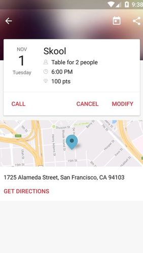 Les captures d'écran du programme OpenTable: Restaurants near me pour le portable ou la tablette Android.