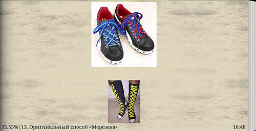Capturas de tela do programa Unusual ways to lace shoes em celular ou tablete Android.
