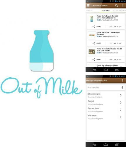 Descargar gratis Out of milk - Grocery shopping list para Android. Apps para teléfonos y tabletas.