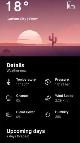 Overdrop - Animated weather & Widgets app for Android, download programs for phones and tablets for free.