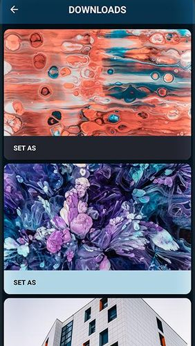 Screenshots des Programms PaperSplash - Beautiful unsplash wallpapers für Android-Smartphones oder Tablets.