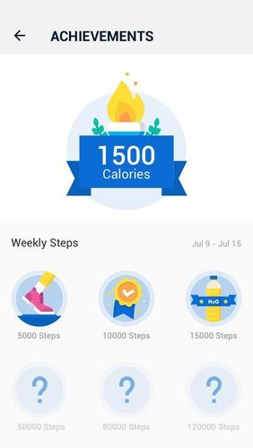 Screenshots of Pedometer - Step counter free & Calorie burner program for Android phone or tablet.