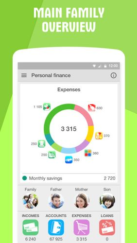 Descargar gratis Personal finance: Expense tracker para Android. Programas para teléfonos y tabletas.