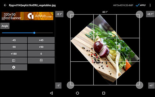 Capturas de pantalla del programa Photo editor para teléfono o tableta Android.