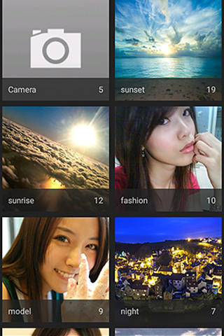 Screenshots of Photo painter program for Android phone or tablet.