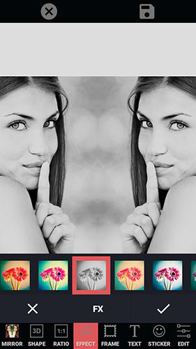 Screenshots des Programms Photo editor collage maker für Android-Smartphones oder Tablets.