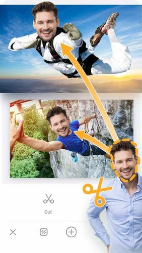 Capturas de tela do programa Photo editor pro - Photo collage, collage maker em celular ou tablete Android.