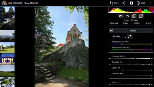 Screenshots of Photo mate R3 program for Android phone or tablet.