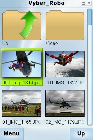 Screenshots of PhotoBook program for Android phone or tablet.
