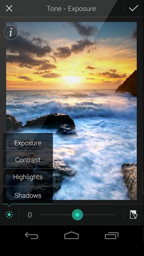 Screenshots of PhotoDirector - Photo editor program for Android phone or tablet.