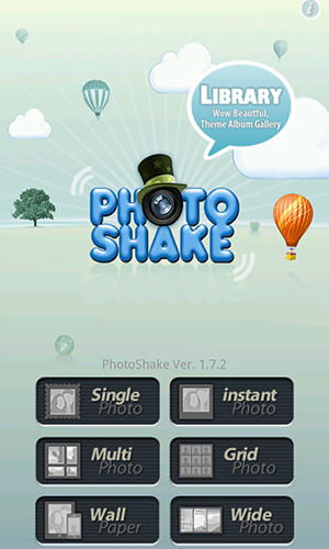Screenshots of Photo shake! program for Android phone or tablet.