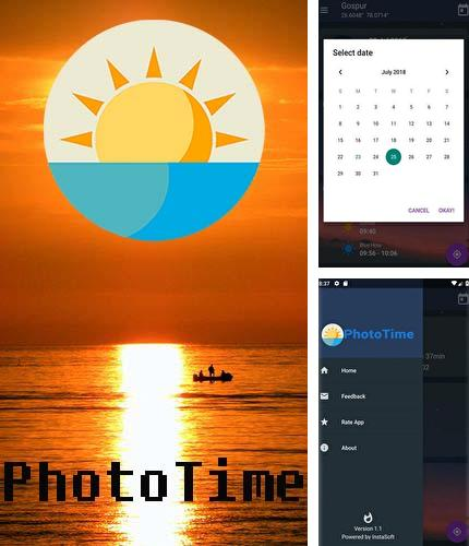 Outre le programme Share it pour Android vous pouvez gratuitement télécharger PhotoTime: Golden hour - Blue hour time calculator sur le portable ou la tablette Android.