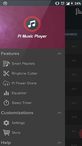 BlackPlayer music player app for Android, download programs for phones and tablets for free.