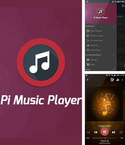 Besides Mirror Android program you can download Pi music player for Android phone or tablet for free.
