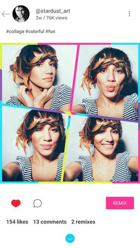 Capturas de pantalla del programa PicsArt photo studio: Collage maker & pic editor para teléfono o tableta Android.