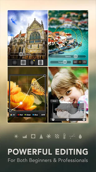 PicsPlay: Photo Editor app for Android, download programs for phones and tablets for free.