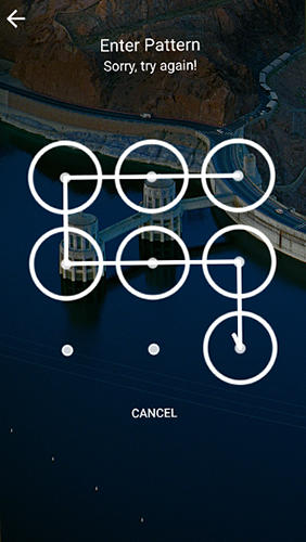 Screenshots of Picturesque lock screen program for Android phone or tablet.